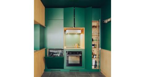 Colour Blocking  tendencia de Diseño en la cocina