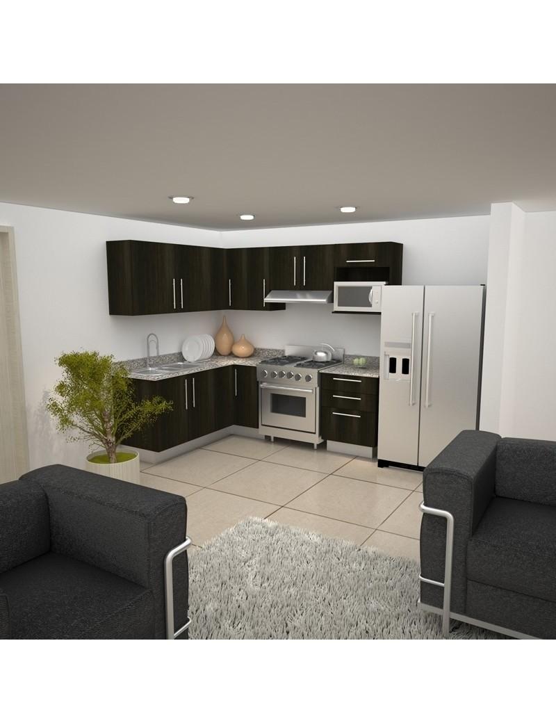 Mobiliario de cocina nova de euromobilia en l euromobilia for Muebles de cocina en l
